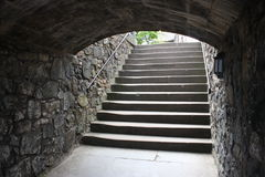 Old stairs. Old stone stairs in the Edinburgh Castle Stock Photography