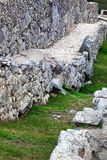 Old stairs and stone wall Royalty Free Stock Photos