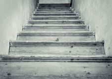 Old stairs to the attic Stock Image