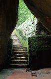 Old stairs to cave royalty free stock images