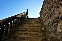 Old Stairs to museum in Novo Mesto. Slovenia Royalty Free Stock Images