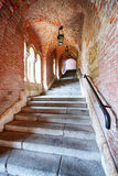 Old stairs under a brick tunnel Royalty Free Stock Images