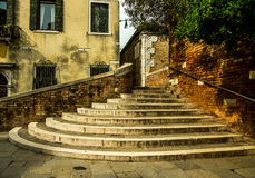 Old Stairs in Venice Stock Photography