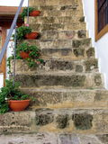 Old stairway. An old rocky stairway. Nicosia. Cyprus Royalty Free Stock Images