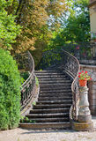 Old stairway. Outdoor stairs of an old mansion Royalty Free Stock Photography