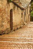 Old Stairway on a Rainy Day, Siena Italy Royalty Free Stock Photography