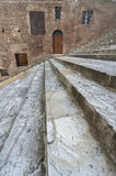 Old stairway in Siena, Tuscany, Italy. Classic Door, Windows,Wall and Staircase in Siena, Italy Royalty Free Stock Photo