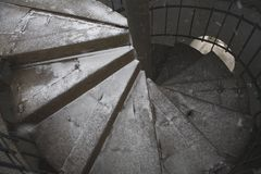 Old stall close texture round stair Stock Image