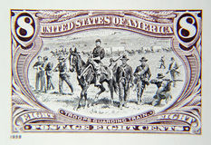Old Stamp. Photo of Classic 8 Cent Stamp stock photos