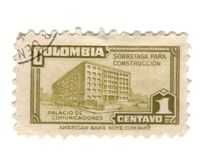 Old stamp from Colombia Stock Images