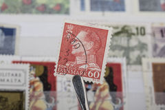 Old stamp of Denmark stock photography