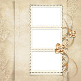 Old stamp-frame on victorian background Royalty Free Stock Photo