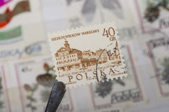 Old stamp of Poland Stock Photos