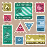 Old Stamp Stickers Stock Photography