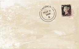 Old Stamped Envelope Stock Image
