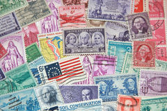 Old Stamps Royalty Free Stock Photography