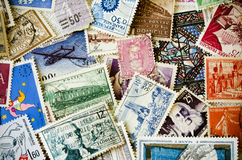 Old Stamps. Set of old stamps stock photo Royalty Free Stock Images