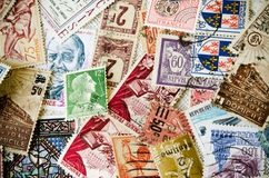 Old Stamps Stock Photo