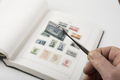 Old stamps collection Royalty Free Stock Image