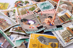 Old Stamps of Thailand. Stock Photo