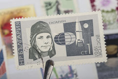 Old stamps of USSR stock photography