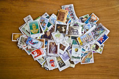 Old stamps from various countries Royalty Free Stock Photography