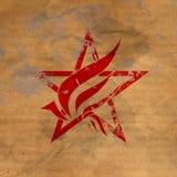 Old star logo. On cardboard Stock Images