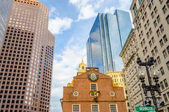 Old State House, Boston. Old State House, Historic Building in central Boston, USA stock photos