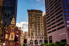 The Old State House and other buildings in Boston, Massachusetts Stock Photo