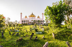 Old state mosque in Kuching in evening light, Malaysian Borneo Stock Photos