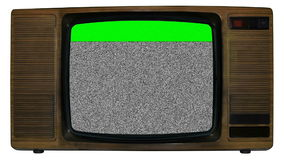 Old static television Royalty Free Stock Photo