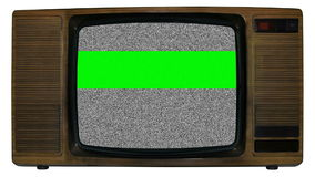 Old static television stock footage