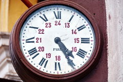 Old station clock Royalty Free Stock Images