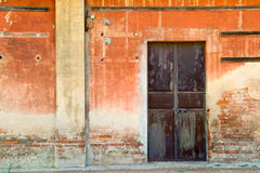 Old station door. Abandoned old train station. High Details Stock Image