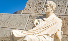 Old statue in Athens, Greece Royalty Free Stock Photo