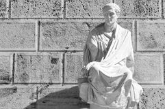 Old statue in Athens, Greece Stock Image
