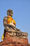 The Old Statue buddha at Ayutthaya Thailand. The Old Statue buddha at Ayutthaya was the old capital of Thailand Royalty Free Stock Image