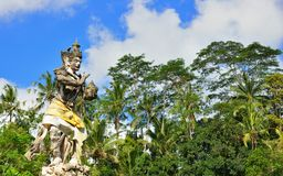 Old statue in the entrance of Tirta Empul Royalty Free Stock Image