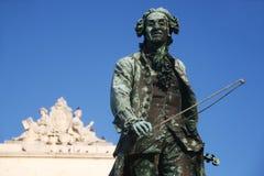 Old statue of Giuseppe Tartini in Piran, Slovenia Stock Images