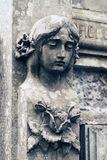 Old statue on grave in the Lychakivskyj cemetery of Lviv, Ukrain Stock Photography
