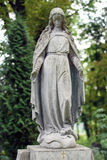 Old statue on grave in the Lychakivskyj cemetery of Lviv, Ukrain Royalty Free Stock Photos