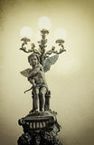 Old statue of an infant angel vintage Royalty Free Stock Photo