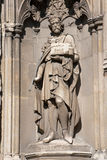 Old statue of a king. Statue of a king made in stone in Canterbury Royalty Free Stock Image