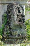Old Statue of Lord Ganesha Stock Photo