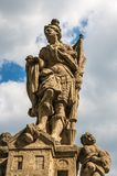 Old statue, monument in Kutna Hora Stock Photography