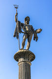 Old statue of Neptun God, monument in Lindau Royalty Free Stock Photo