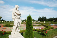Old statue in the Palace garden in Oranienbaum Royalty Free Stock Photography