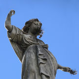 Old statue in the Recoleta Cemetery. royalty free stock photos