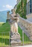 Old statue in villa Balbianello royalty free stock photo
