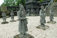 The old statues at Hue city Vietnam Royalty Free Stock Image